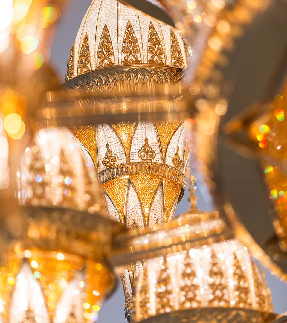 Sultan Qaboos Mosque in Sohar Grand Chandelier by Kny Design Austria